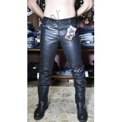 jeans in pelle indy laccetti
