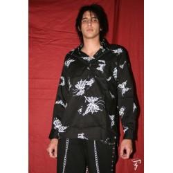 camicia teschio/farfalla